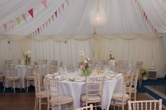 Southern Marquees Ltd provided this Pretty spring wedding marquee..