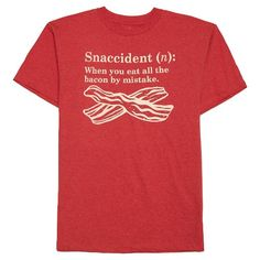 • Cotton/Polyester blend for softness and durability<br>• Classic t-shirt style and fit with short sleeves and crew neck<br>• Flattering color he'll look sharp in<br><br>Add this quirky Snaccident boys' t-shirt to his collection. This boys' shirt is easy to pair with any pants and perfect for everyday wear. Layer with his favorite hoodie for all year use.