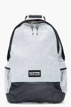 KRISVANASSCHE Heather grey leather-trimmed Backpack