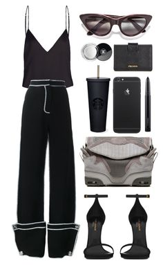 """""""///"""" by mimiih ❤ liked on Polyvore featuring J.W. Anderson, Opening Ceremony, Alexander Wang, Yves Saint Laurent, MAC Cosmetics, Prada and Chanel"""