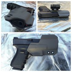 I like the front of this one. Good for quick draw. Tactical Equipment, Tactical Gear, 9mm Holster, Glock Girl, Firearms, Shotguns, Police Gear, Weapon Storage, Tyres Recycle