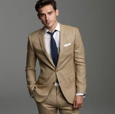 Tweed suit, light tan