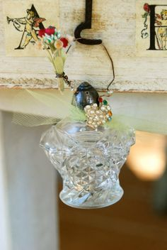 Home for the holidays. salt shaker ornament. Tiedupmemories