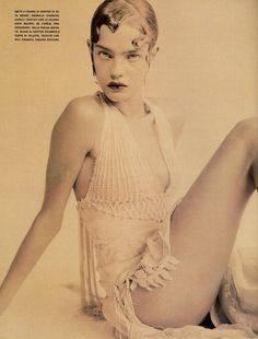Natalia Vodianova photographed by Paolo Roversi - Vogue Italia: 2002