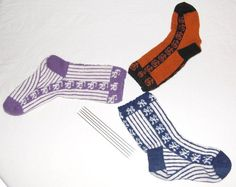Baseball Socks by Meredith Knitting