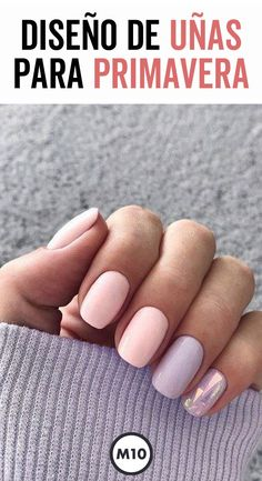Diseño de uñas para primavera que te harán lucir increíble - Diseños de uñas - Nails & Co, Gelish Nails, Nail Manicure, Diy Nails, Cute Nails, Best Acrylic Nails, Healthy Nails, Simple Nails, Trendy Nails