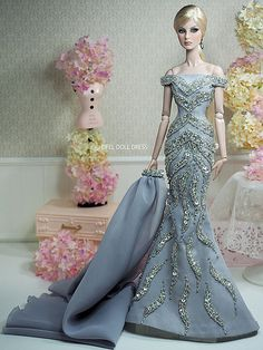 New Dress for sell EFDD | por eifel85, eifel doll dress Barbie Wedding Dress, Barbie Gowns, Doll Clothes Barbie, Dress Up Dolls, Doll Clothes Patterns, Dress Patterns, Fashion Royalty Dolls, Fashion Dolls, Beautiful Gowns