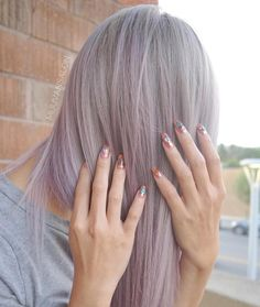 Dusty pink hair with pink chrome nails. Dusty Pink Nails, Pink Chrome Nails, Brows, Lashes, Pink Hair, Dyed Hair, Hair Inspiration, Color Pop, Hair Makeup