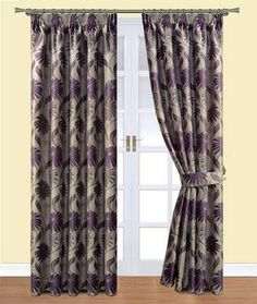 Davie Plum Ready Made Curtains