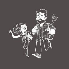 The Last of Us - Cartoon Ellie & Joel