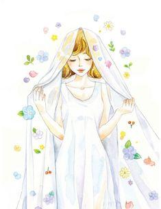 Mama Elephant Cards, Girls With Flowers, Cute Profile Pictures, Green Art, Fairy Art, Kawaii Girl, Cartoon Art, Art Girl, Pop Art
