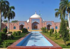 Shah Jahan Mosque, Roof Decoration, Vestibule, Lodges, Shades Of Blue, Pakistan, Taj Mahal, Tourism, Patio