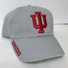 a2bf9850eb9 new INDIANA HOOSIERS HAT relaxed unstructured dad cap GRAY DARK RED IU  men women  RussellAthletic  IndianaHoosiers