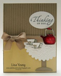 Table set for Tea by genesis - Cards and Paper Crafts at Splitcoaststampers