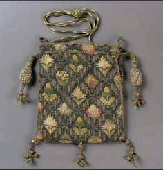 Drawstring bag        English, early 17th century