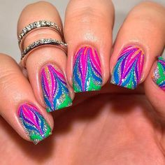 27 Examples Of Nail Designs for Short Nails To Inspire You ❤️ Bright Colorful Nail Art picture 1 ❤️ Bright Nail Designs, Best Nail Art Designs, Short Nail Designs, Gel Nail Designs, Beautiful Nail Designs, Colorful Nail Art, Cool Nail Art, Bright Nail Art, Spring Nails