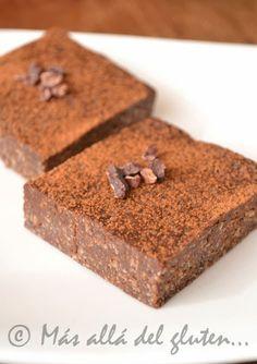 Más allá del gluten...: Brownies Crudiveganos de Semillas de Girasol (Receta GFCFSF, Vegana, RAW)