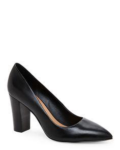 Tahari Black Ava Pointed Toe High Heel Pumps