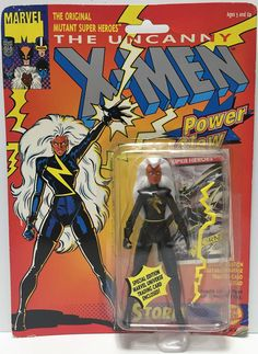 """1991 Toy Biz The Uncanny X-Men """"Power Glow"""" Action Figure - Storm This item is NOT in Mint Condition and is in no way being described as Mint or even Near Mint. Our toys have not always lead the perfe"""