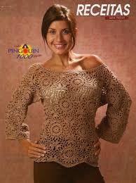 Znalezione obrazy dla zapytania sweter na szydełku ze schematem