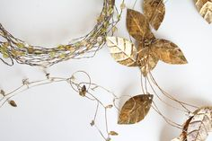 Wire Garland, bead garland, leaf garland