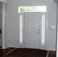 Plantation shutters for sidelights on front door