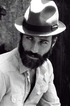 Mens fashion - hat - beard