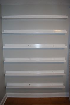 great tutorial for gallery shelves for books or pictures