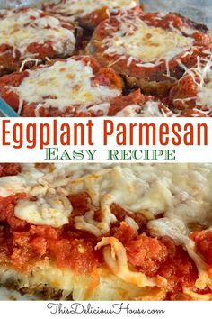 The BEST eggplant parmesan is easy to make and perfect for weeknight dinner! Don't miss this recipe for Italian Eggplant Parmesan. #eggplantparmesan #eggplantrecipe Easy Crowd Meals, Make Ahead Meals, Easy Meals, Barbecue Recipes, Grilling Recipes, Bbq, Dinner Dishes, Main Dishes, Freezer Friendly Meals