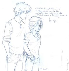 "Peeta and Katniss...""dreading the moment I'll have to let go..."""