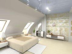 Moderne Wohnzimmer Mit Dachschräge