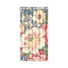 Vintage Floral Fabric Pattern Window Curtain 50
