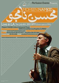 Mohsen Namjoo | Live in LA | Poster by Kourosh Beigpour