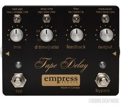Empress Tape Delay Pedal - New! Free Shipping! #Empress