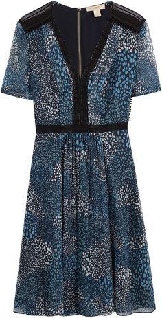 Burberry Brit Printed Silk Dress