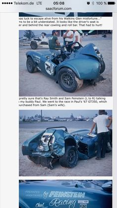 poor little Cobra! He will come back to live. Sport Cars, Race Cars, Shelby Car, 427 Cobra, Carroll Shelby, Amazing Cars, Awesome, Vintage Race Car, Ford Gt