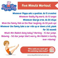 Five Minute Workout To Peppa Pig For Mums