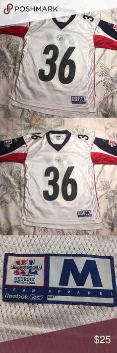 Vintage Steelers Jerome Bettis Super Bowl Jersey Size Medium - Condition 9.9/10 near perfect - Reebok Reebok Shirts