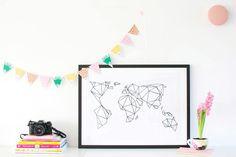 Artprint / Geometrische Erde