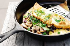 Mushroom And Spinach Omelette - Paleo + Dairy Free. Clean eating real food