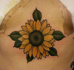 Cf S Tattoo, Flor Tattoo, Sleeve Tattoos, Sunflower Tattoos, Sunflower Tattoo Design, Life Tattoos, Cool Tattoos, Americana Tattoo, Traditional Style Tattoo