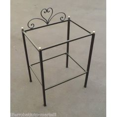 Bedside Table Wrought Iron. Customize Realizations. 871 Bedside, Wrought Iron, Magazine Rack, Nightstands, Cabinet, Storage, Table, Furniture, Home Decor