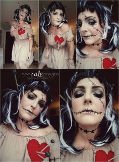 Voodoo Doll Makeup
