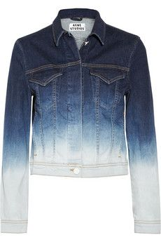 Acne- Stace dégradé stretch-denim jacket