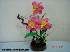 Arteirices da Dru: Orquídea de EVA no Tronco