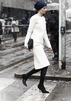 How to Wear Winter White like a Pro - Glam Bistro