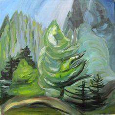 Copy of Emily Carr, The Little Pine, post Impressionist Paintings, Landscape Paintings, Landscapes, Art Central, Emily Carr, Odilon Redon, Algonquin Park, Nature Spirits, Art Story