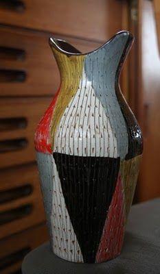 Aldo Londi vase - wonderful color palette