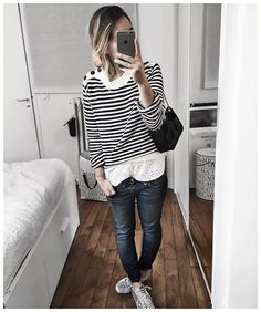 ⚪️⚫️ • Bag #sezane (from @sezane) • Knit #aninebing (from @aninebing) • Lace top #ros... | Use Instagram online! Websta is the Best Instagram Web Viewer!