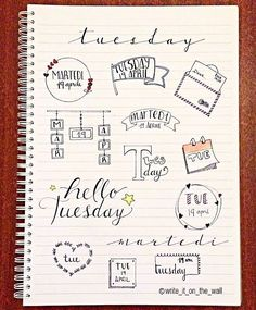 some inspiration for your next tuesday! _ un po' d'ispirazione per il vostro prossimo martedì #tuesday #banner #bulletjournal #stationary #stationaryaddict #handlettering #calligraphy #handlettered #moderncalligraphy #midoritravelersnotebook #lettering #font #rockyourhandwriting #type #letters #filofaxgoodies #planner #planning #planneraddict #plannernerds #plannercommunity #plannersupplies #planwithmechallenge #filofax #plannerlove #bulletjournaljunkies #bulletjournalchallenge #doodle #s...